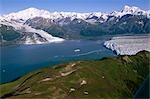 Holland America cruise ship at Hubbard Glacier and Turner Glacier Alaska/nDisenchantment Bay