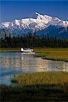Men on Floatplane AK Range Pond Spin Fishing Summer AK Mt McKinley Southside Southcentral