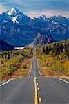 Glenn Hwy Chugach Mtns Southcentral Alaska Fall Scenic Trees Tundra