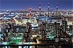 Roosevelt Island et Manhattan Ravenswood Keyspan, centrale électrique, Queens, New York, New York, USA