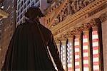 George Washington Statue and New York Stock Exchange, Manhattan, New York, New York, USA
