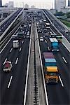 Highway, Odaiba, Tokyo, Kanto Region, Honshu, Japan