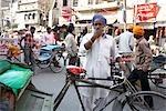 Cycle Rickshaw Drivers in Amritsar, Punjab, India
