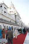 Nos gens au Temple d'or, Amritsar, Punjab, Inde