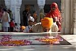 Man Worshipping at Golden Temple, Amritsar, Punjab, India