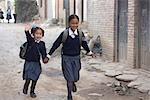 Enfants d'âge scolaire Chapagaon, Népal