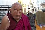 Monk at Monkey Temple, Kathmandu, Nepal