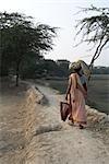 Woman in Namkhana Village, South 24 Parganas District, West Bengal, India