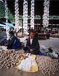 Scène de marché, Thimphu, Bhoutan