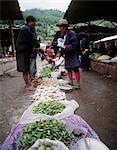 Chillies and vegetables in main market,Thimpu,Bhutan