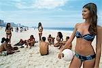 Young people on Copacabana beach,Rio,Brazil