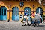 Ice cream seller cycling,Getsameni,Cartagena,Colombia
