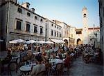 People in cafes on Stradun,Dubrovnik,Croatia