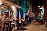 Nigh shot of restaurant at Rue St. Remi,Bordeaux,France