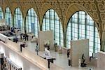 Le grand hall de la galerie d'art Musée d'Orsay, Paris, France