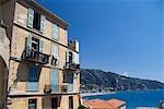 Vue sur mer, Cote d'Azur, Côte d'Azur, Menton, France