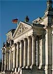 Façade du Bundestag (Reichstag), Berlin, Allemagne