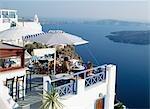 cliffside bar,santorini,Greece