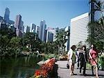 Mid levels and Botanical Gardens Lake,Hong Kong,China.
