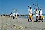 Balinese New Year (Nyepi) procession,Bali,Indonesia.