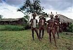 Membres de la tribu Dani,, Irian Jaya, Indonésie