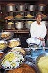 A man inside his Kirana pulses shop in Jaipur,Rajasthan,India