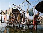 Les hindous prient., Varanasi, Uttar Pradesh, Inde