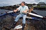 Salmon fishing,county Mayo,Ireland