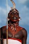 membre de la tribu en costume traditionnel,, Lo Malo, Kenya