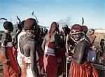 Cour de village de Samburu, Samburu, Kenya