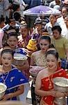 Candidats à l'investiture pour la beauté du concours, Luang Prabang, Laos.