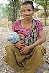 Mother breastfeeding,Savannakhet,Laos