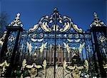 Entrance gates to Kensington Palace,London,UK.
