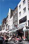Cafés et boutiques à South Molton Street, Londres, Angleterre, RU