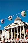 New Year Celebrations & National Gallery,Trafalgar Square,London.  England