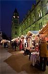 Christmas market outside Natural History Museum,London,England