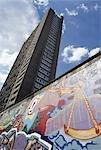 Trellick tower and grafiti,London,England,UK