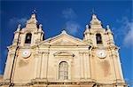 St. Paul's cathedral facade,Mdina,Malta
