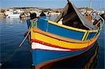 traditional painted fishing boat,Marsaxlokk,Malta