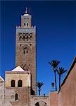 Kotoubia mosquée et Minaret, Marrakech, Maroc