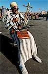Musician in a square,Marrakesh,Morocco