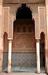 Gravures de tombeaux Saadiens, Marrakech (Marrakech), Maroc