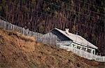 Architecture typique de la Sibérie, Sibérie, Russie