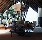 Intérieur du salon,, Luxury safari lodge, Boulders Singita, Afrique du Sud