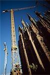 Construction at Sagrada Familia,Barcelona,Spain