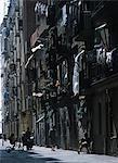 Backstreets in Barceloneta,Barcelona,Spain