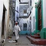 Muslim boy in street,Stone Town,Zanzibar Island. Tanzania
