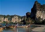 Railay Beach,Long Tail Boats,Krabi,Thailand