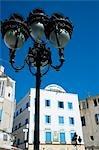 Hôtel Medina et lamp post, Tunis, Tunisie, Afrique du Nord