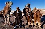 Cameliers berbère, Matmata, sud de la Tunisie.